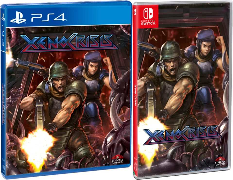 xeno crisis physical release standard edition strictly limited games ps4 nintendo switch cover limitedgamenews.com