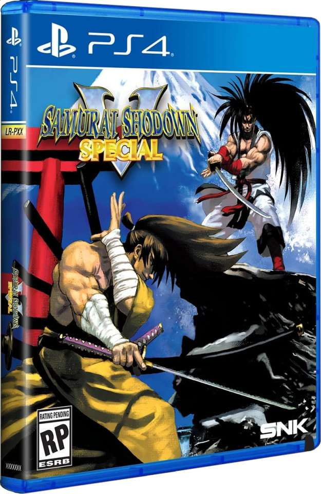 samurai shodown v special physical release limited run games standard edition ps4 cover limitedgamenews.com