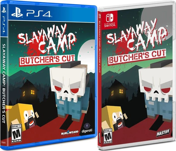 slayaway camp butchers cut standard edition physical release physicality games ps4 nintendo switch cover limitedgamenews.com