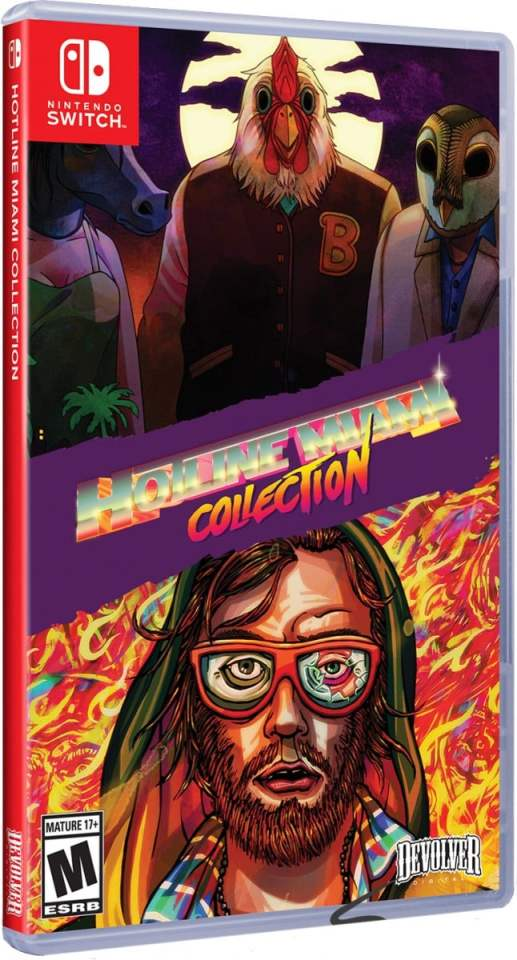 hotline miami collection physical release special reserve games limited run games cover variant nintendo switch cover limitedgamenews.com