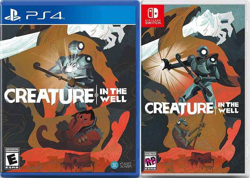 creature in the well physical release iam8bit ps4 nintendo switch cover limitedgamenews.com
