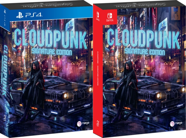 cloudpunk physical release signature edition games ps4 nintendo switch cover limitedgamenews.com
