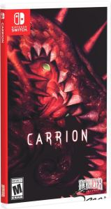 carrion devolver digital physical release standard edition special reserve games nintendo switch limited run games cover variant limitedgamenews.com