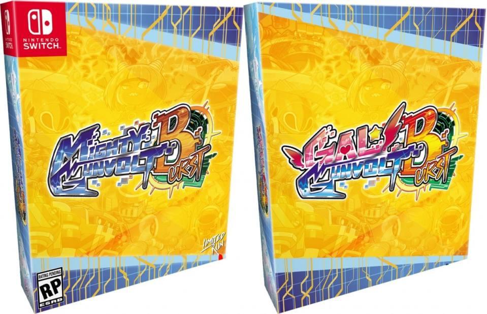 gal gunvolt burst mighty gunvolt burst retail release collectors edition ps4 nintendo switch cover www.limitedgamenews.com
