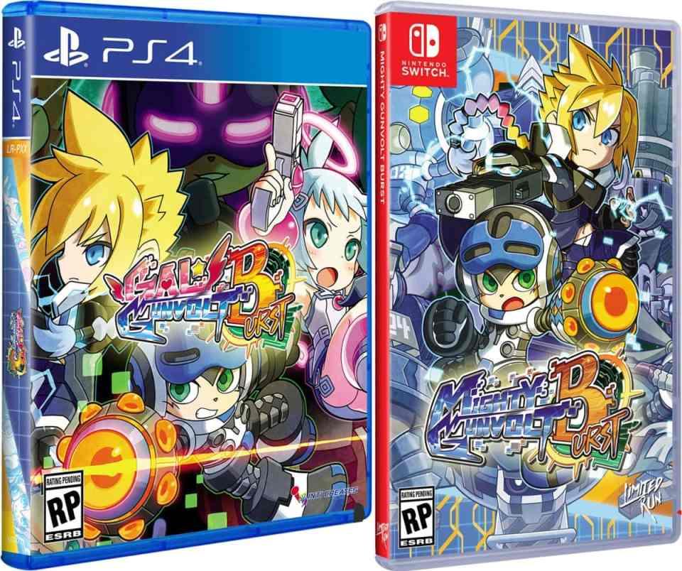gal gunvolt burst mighty gunvolt burst retail release standard edition ps4 nintendo switch cover www.limitedgamenews.com