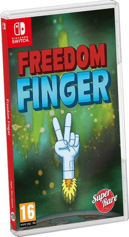 freedom finger retail release super rare games nintendo switch cover www.limitedgamenews.com