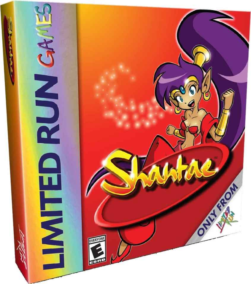 shantae retail re-release limited run games standard edition game boy color cover www.limitedgamenews.com