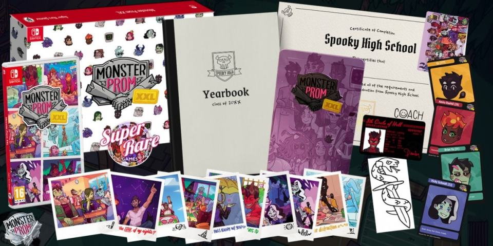 monster prom xxl retail super rare games collectors edition nintendo switch cover www.limitedgamenews.com