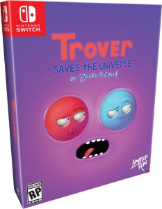 trover saves the universe physical retail release collectors edition limited run games nintendo switch cover www.limitedgamenews.com