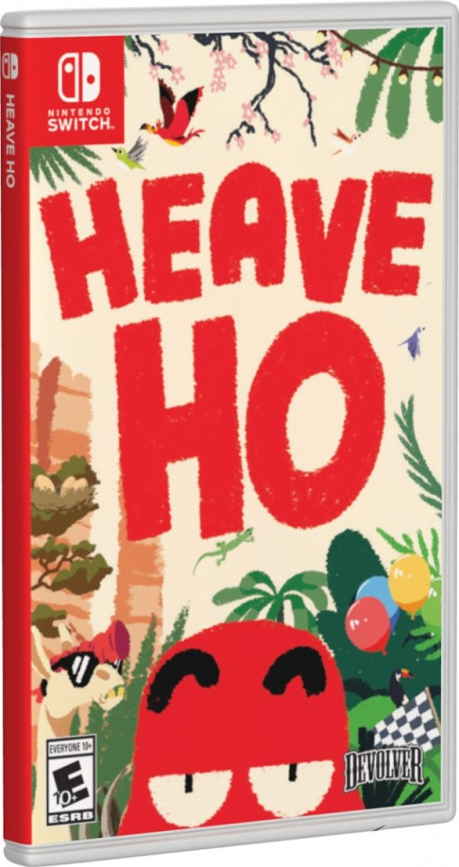 heave ho physical retail release standard edition special reserve games limited run games cover variant nintendo switch cover www.limitedgamenews.com