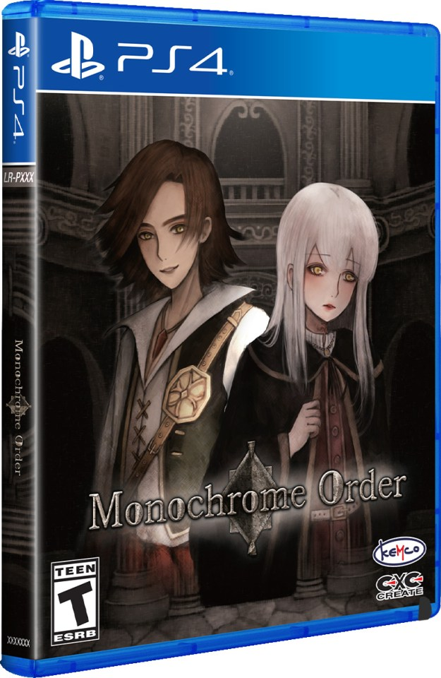 monochrome order playstation 4 physical retail release limited run games ps4 cover www.limitedgamenews.com