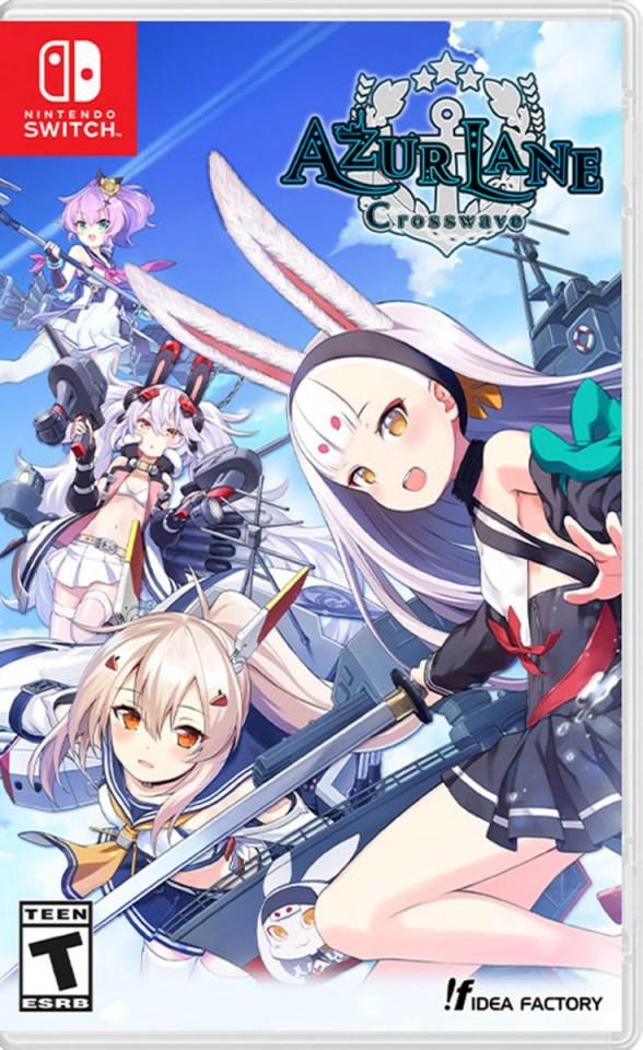 azure lane crosswave physical retail release idea factory nintendo switch cover www.limitedgamenews.com