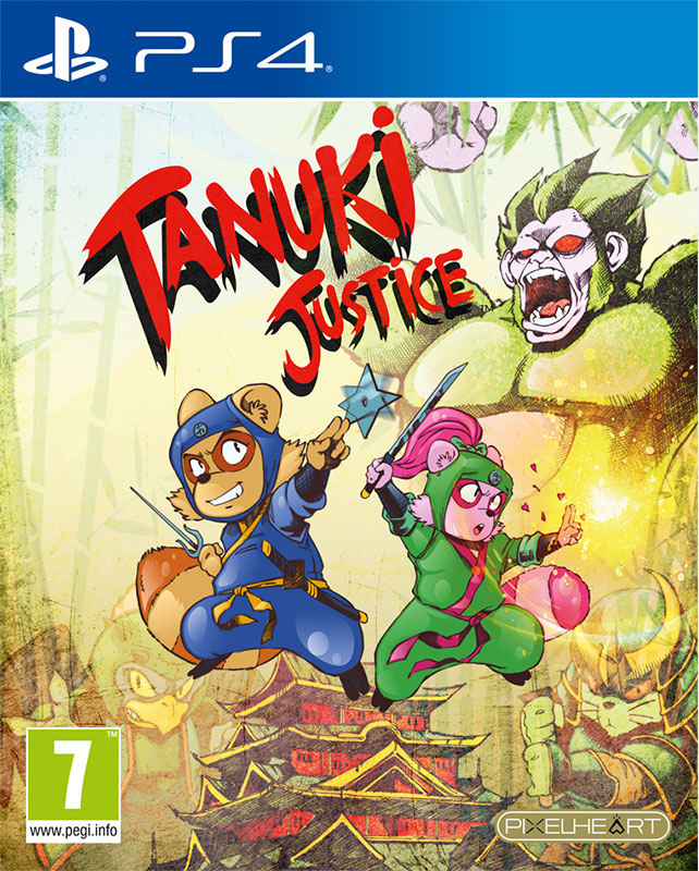 tanuki justice physical retail release pixelheart playstation 4 cover www.limitedgamenews.com