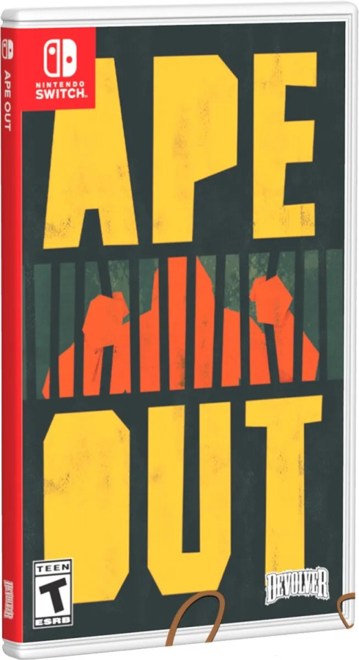 ape out limited run games cover variant physical retail release special reserve games nintendo switch cover www.limitedgamenews.com