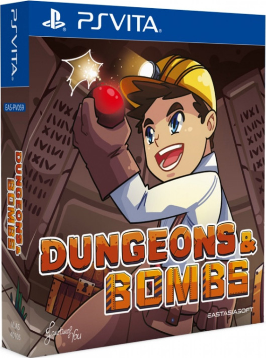 dungeons & bombs physical retail release limited edition asia multi-language eastasiasoft playstation vita cover www.limitedgamenews.com