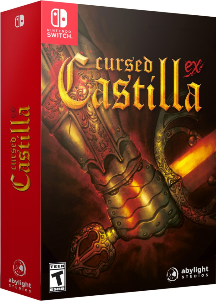 cursed castilla ex physical retail release collectors edition abylight nintendo switch cover www.limitedgamenews.com