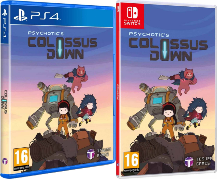 colossus down physical retail release standard edition tesura games playstation 4 nintendo switch cover www.limitedgamenews.com