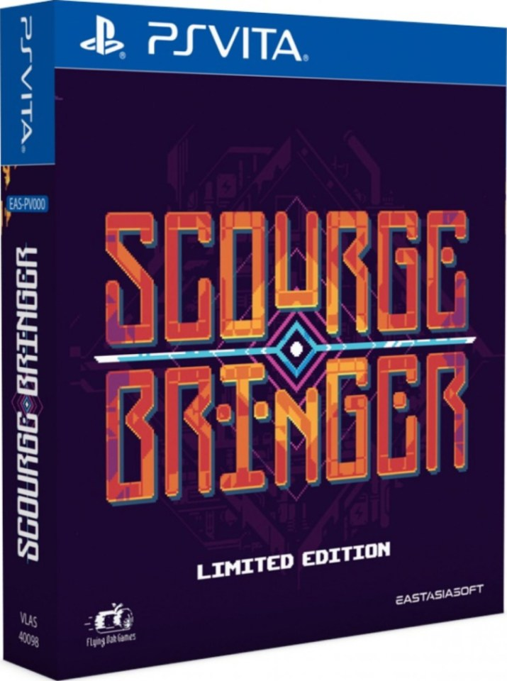 scourgebringer limited edition physical retail release asia english mutli-language playstation vita cover www.limitedgamenews.com