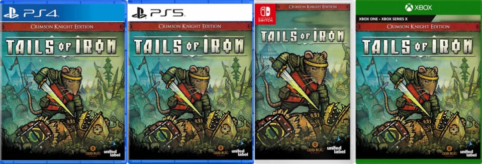 tails of iron crimson knight edition physical retail release usa xbox one xbox series x playstation 4 playstation 5 nintendo switch cover www.limitedgamenews.com