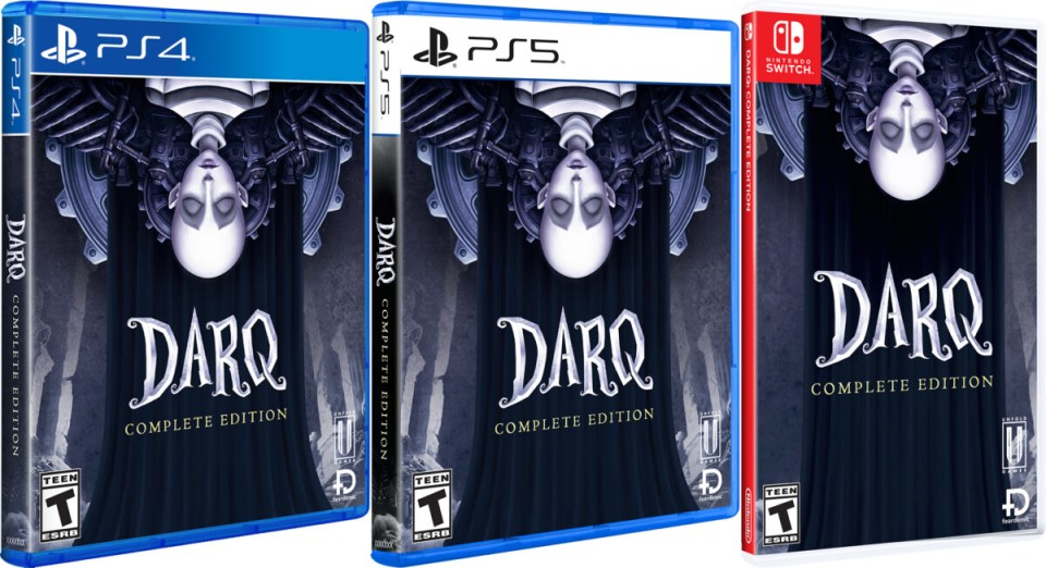 darq complete edition standard edition physical retail release unfold games playstation 4 playstation 5 nintendo switch cover www.limitedgamenews.com