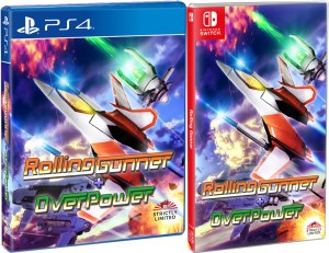rolling gunner + over power standard edition physical retail release strictly limited games playstation 4 nintendo switch cover www.limitedgamenews.com