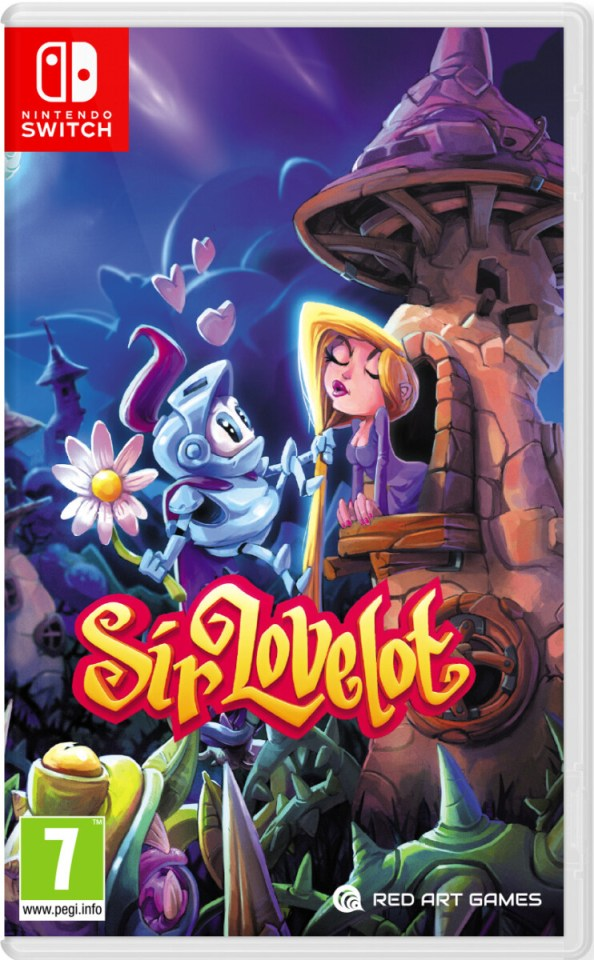sir lovelot physical retail release europe red art games nintendo switch cover www.limitedgamenews.com