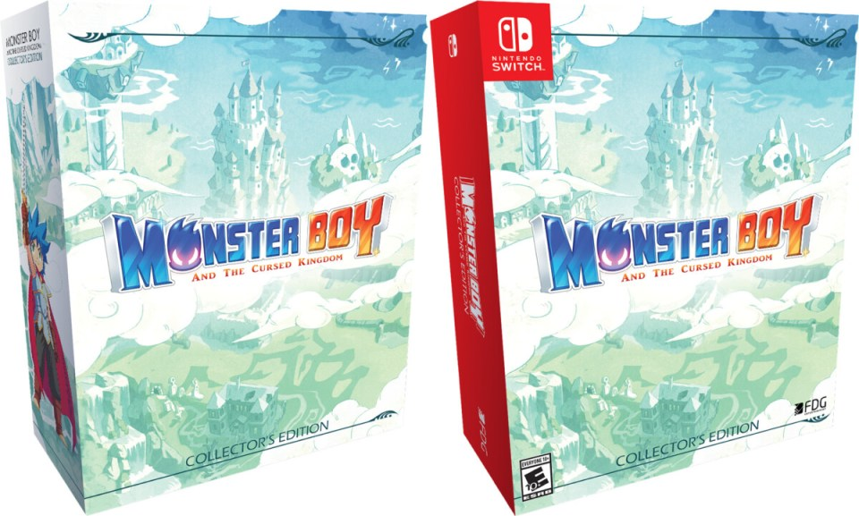 monster boy and the cursed kingdom collectors edition physical retail release fdg entertainment playstation 4 nintendo switch cover www.limitedgamenews.com