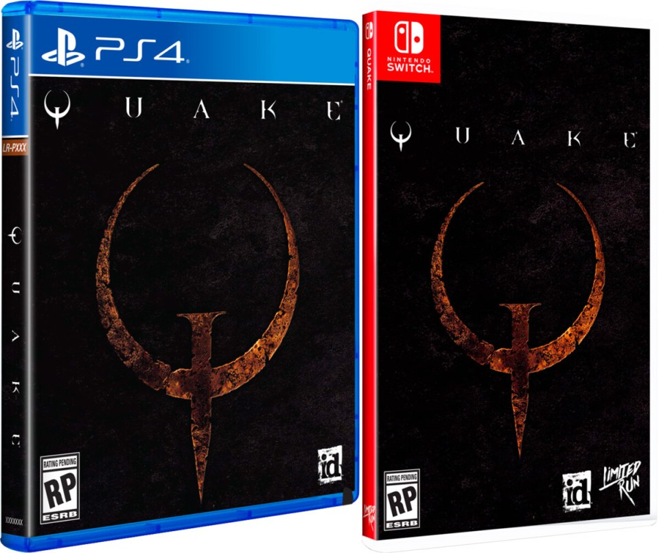 quake standard edition physical retail release limited run games playstation 4 nintendo switch cover www.limitedgamenews.com