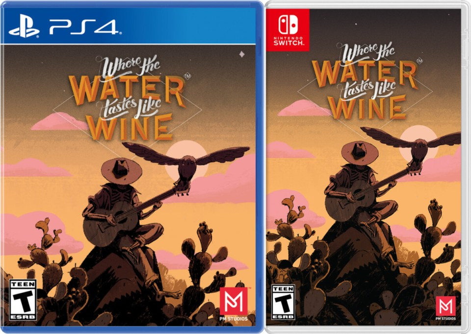 where the water tastes like wine standard edition physical retail release pm studios playstation 4 nintendo switch cover www.limitedgamenews.com