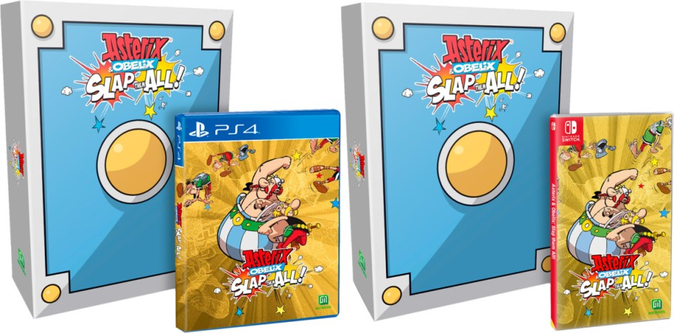asterix obelix slap them all ultra collectors edition physical retail release microids strictly limited games playstation 4 nintendo switch cover www.limitedgamenews.com