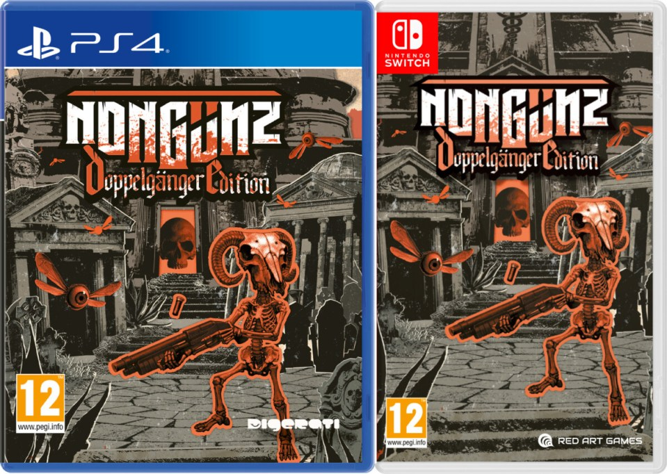 nongunz doppelgänger edition physical retail release red art games playstation 4 nintendo switch cover www.limitedgamenews.com