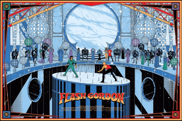 "Flash Gordon  by Kilian Eng.  36""x24"" screen print. Hand numbered. Edition of 300.  Printed by D&L Screenprinting.  US$50"