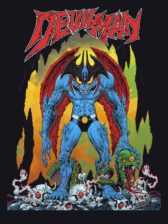 "「デビルマン」レビュラー Devilman  by Mike Sutfin.  24""x36"" screen print. Hand numbered.  Edition of 300.  Printed by D&L Screenprinting.  US$45"