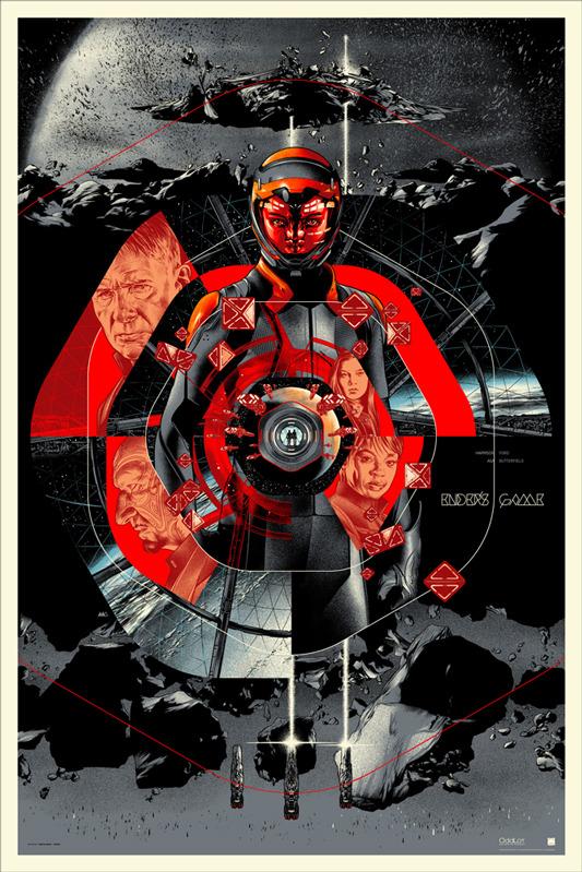 """「エンダーのゲーム」ENDER'S GAME Regular Poster by Martin Ansin.  24""""x36"""" screen print. Hand numbered. Edition of 340.  Printed by D&L Screenprinting.  US$50"""