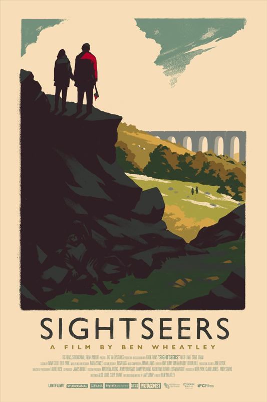 "「サイトシアーズ」Sightseers Poster by Olly Moss.  16""x24"" screen print. Hand numbered. Edition of 225.  Printed by D&L Screenprinting.  US$50"