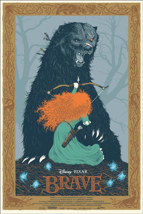 「メリダとおそろしの森」Brave Poster By David Petersen
