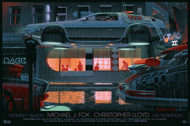 「バック・トゥ・ザ・フューチャー PART2」バリアント Back to the Future Part II Variant Poster by Laurent Durieux Edition of 225