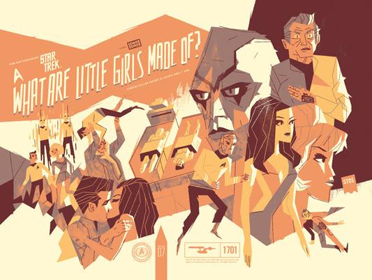 """「宇宙大作戦:コンピューター人間」 Star Trek: What are Little Girls Made Of? Poster by Kevin Dart. 24"""" x 18"""" screen print. Hand numbered. Edition of 175. Printed by D&L Screenprinting. $"""
