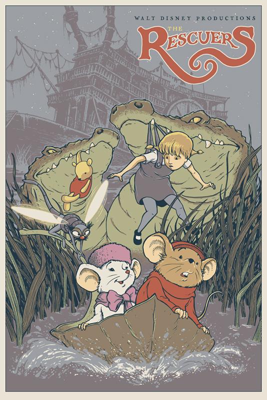 「ビアンカの大冒険 ゴールデン・イーグルを救え!」The Rescuers  Poster by David Petersen