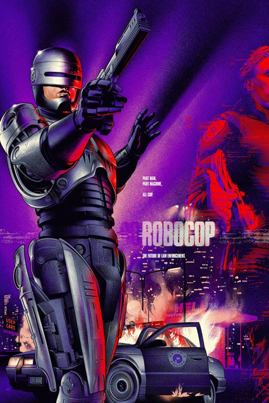 """「ロボコップ」レギュラー ROBOCOP Regular Poster by Martin Ansin.  24""""x36"""" screen print. Hand numbered.  Edition of 475.  Printed by D&L Screenprinting.  US$50"""