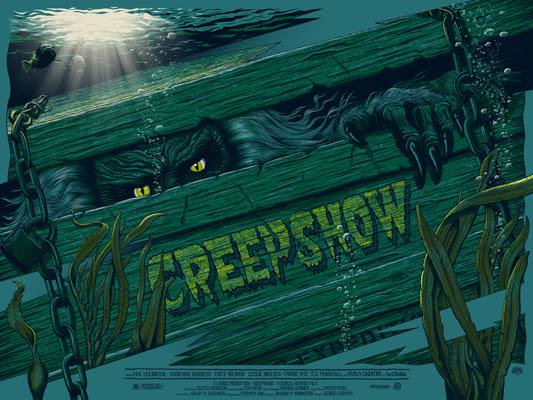 """「クリープショー」レギュラー Creepshow Regular Poster by Mike Saputo.  24""""x18"""" screen print.  Hand numbered. Edition of 300.  Printed by D&L Screenprinting.  US$40"""