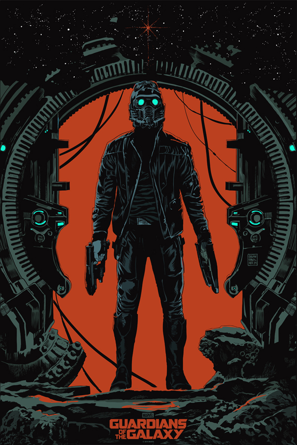 "「スター・ロード」バリアント  Star-Lord (Variant) Poster by Francesco Francavilla 24"" x 36""  Edition of 150  $75"