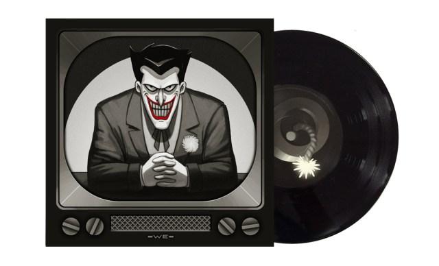 The Joker Artwork by Mike Mitchell Pressed on Bomb Black Vinyl