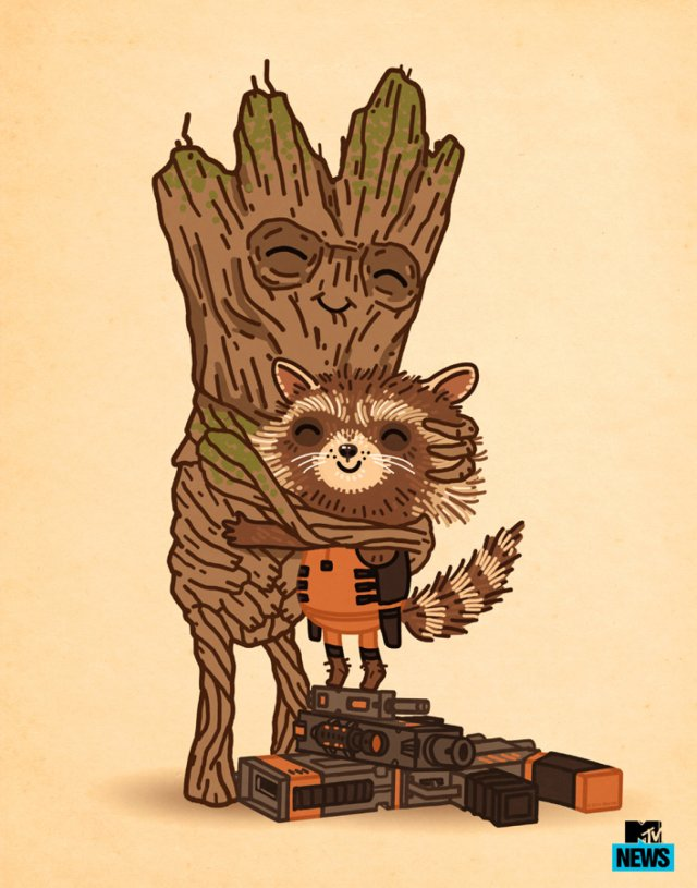 Tree Hugger Poster by Mike Mitchell Edition of 225 $35