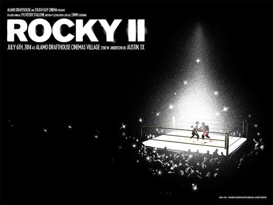 """「ロッキーII」 ROCKY II Poster by Matt Taylor.  18""""x24"""" screen print.  Hand numbered. Edition of 150.  Printed by Industry Print Shop.  US$40"""