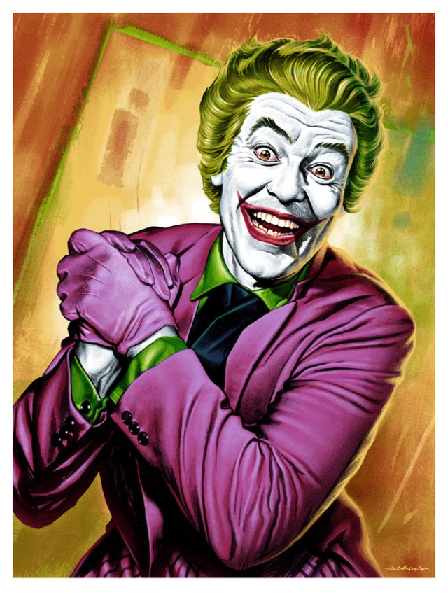 "「ジョーカー」 The Joker  by Jason Edmiston.  18""x24"" screen print. Hand numbered. Edition of 225.  Printed by D&L Screenprinting.  US$45"