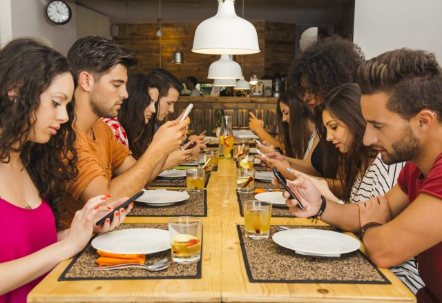 Table of young people with smartphone addiction