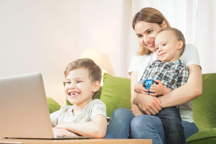 Family using Facetime