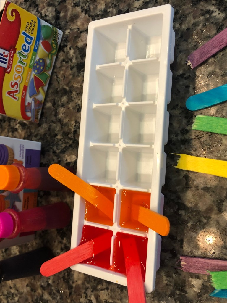 ice cube paints winter art activities for toddlers
