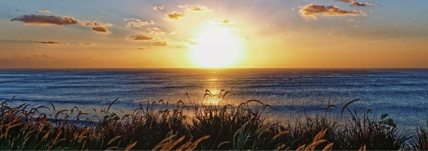 Sunrise over the sea - fix your thoughts on what is true